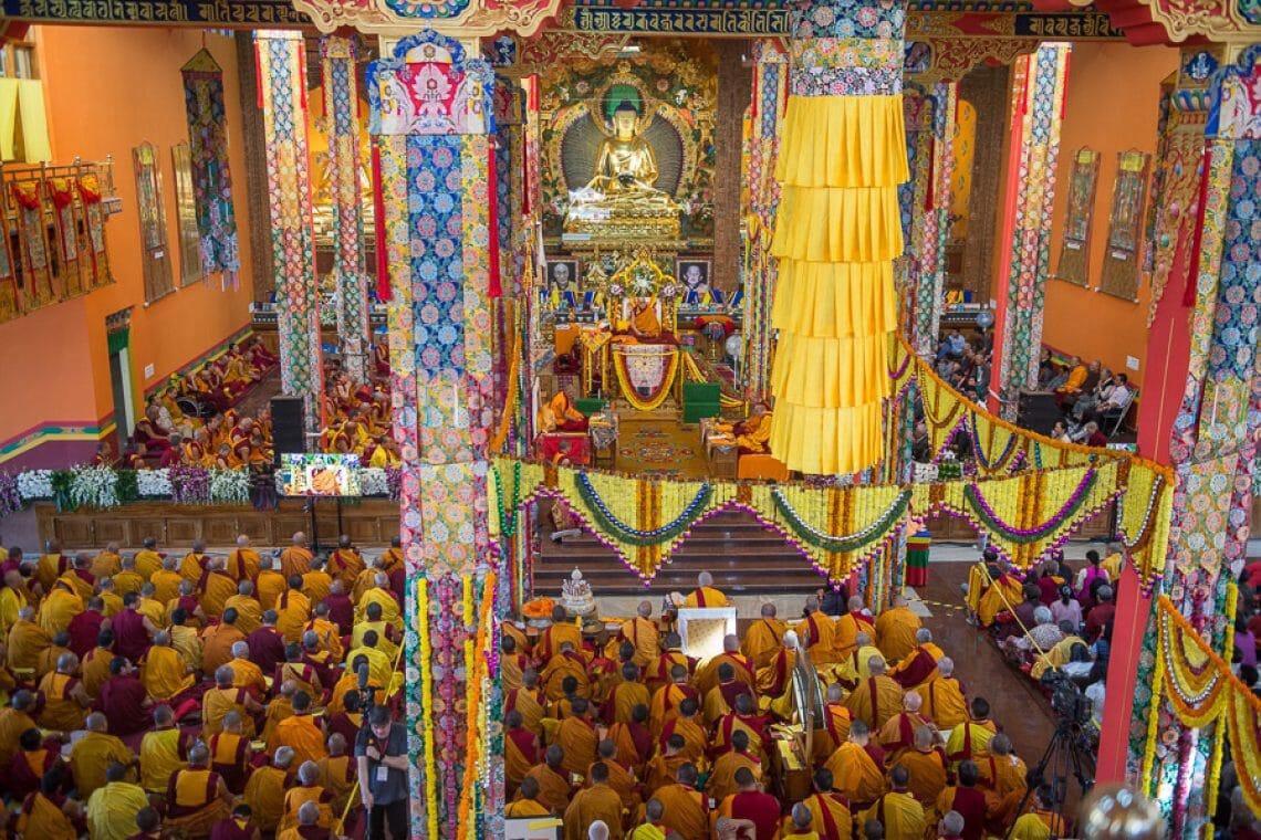 Dalai Laman puhe Tashi Lhunpo -luostarissa, Karnatakassa, Intiassa, 1.1.2016