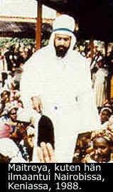 Maitreya kuten Hänet kuvattiin Nairobissa 1988