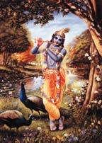 Huilua soittava Krishna -maalaus